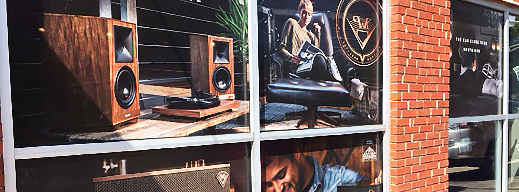 Klipsch pictures in storefront windows