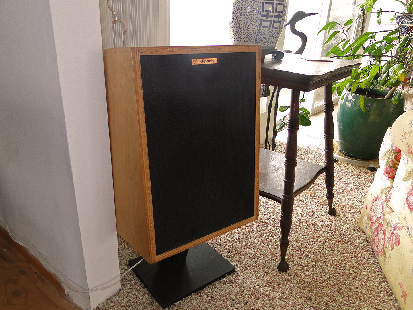 Candace Tinkler Klipsch Heresy Speakers