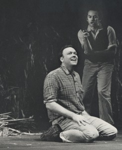 Robert Moulson performing in Of Mice and Men