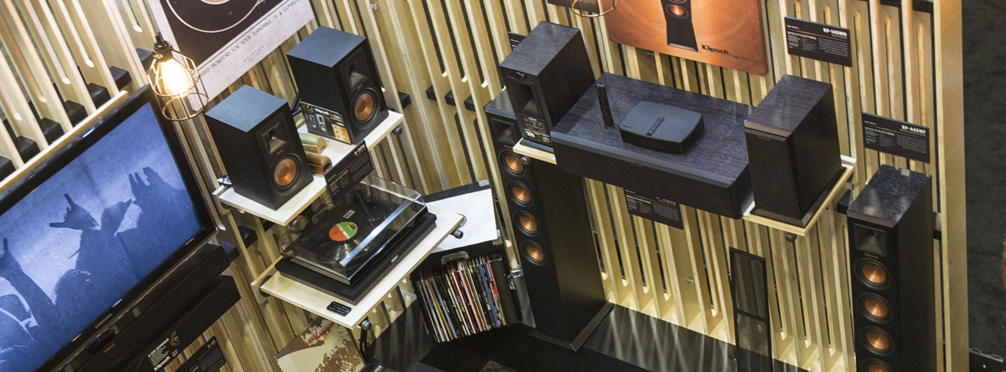 Turntable Pack and Reference Premiere HD Wireless System displayed at convention