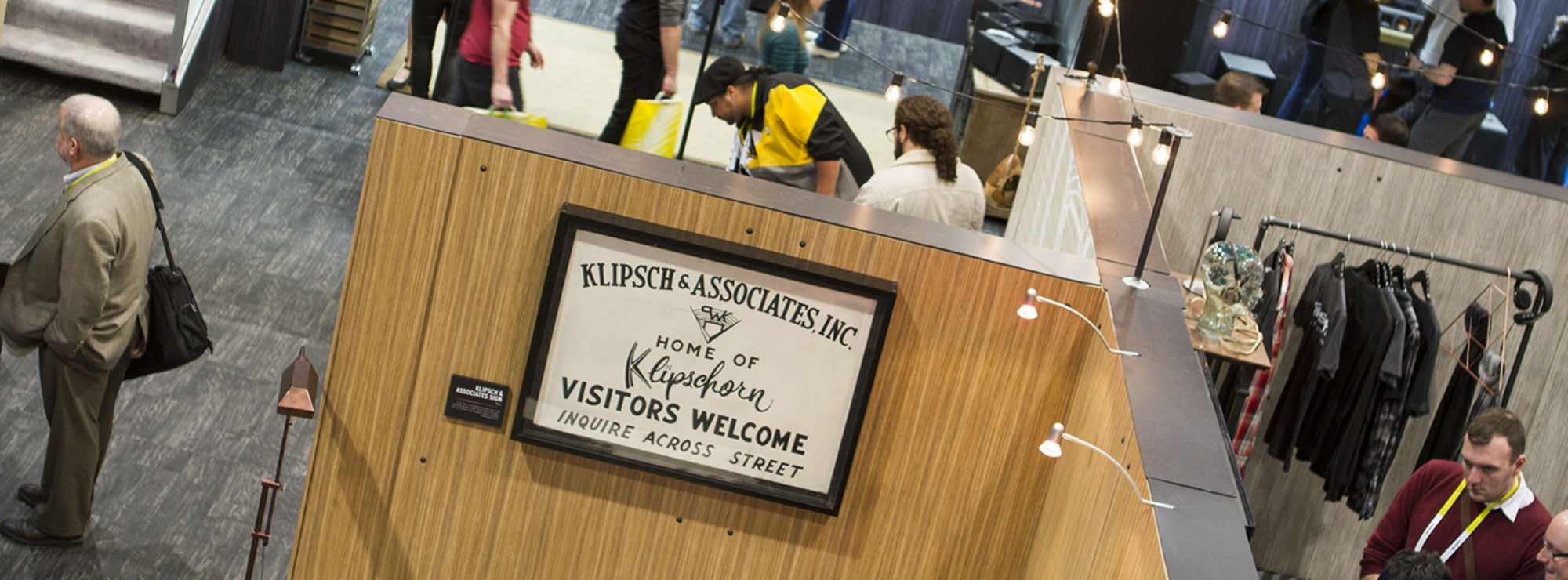 Klipsch & Associates sign at a convention