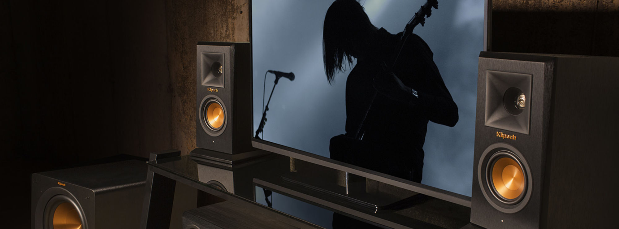 Reference Premiere wireless speaker system around a tv