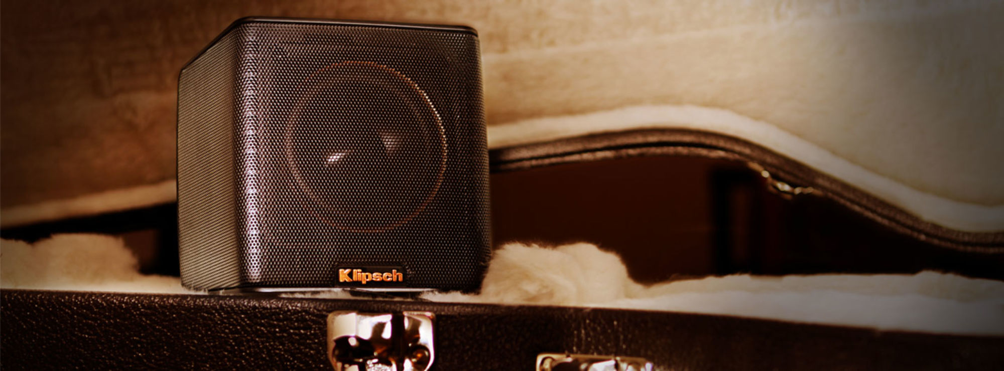 Klipsch Groove in a guitar case