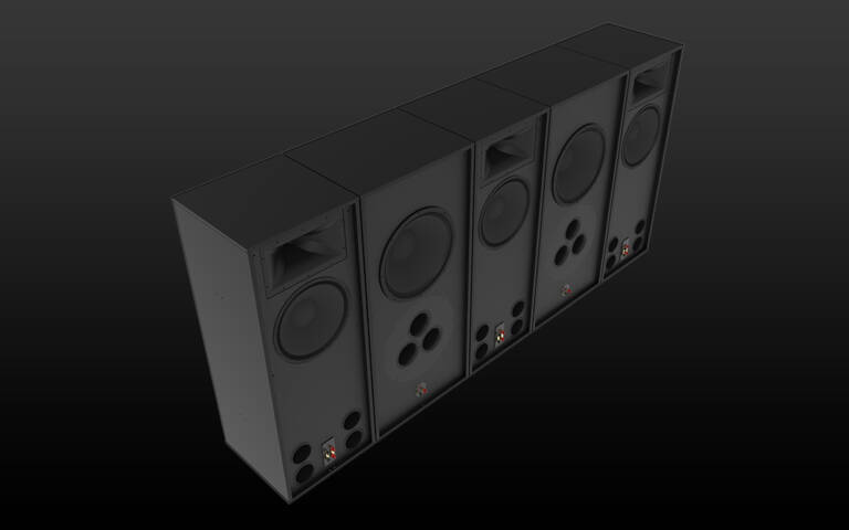 Klipsch-RCC-112-Speakers-on-Black Background