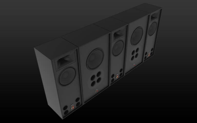 Klipsch-RCC-122-Speakers-on-Black Background