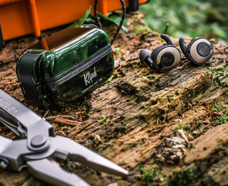 T5 II True Wireless Sport earphones placed in the forest Mobile
