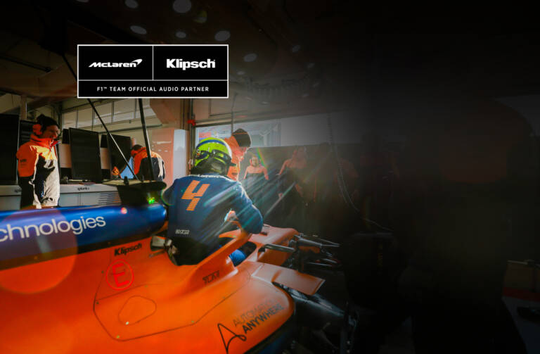 Mclaren and klipsch partnership block bg desktop