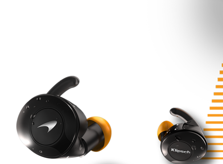 T5 II sport mclaren earbuds with racing stripe mobile
