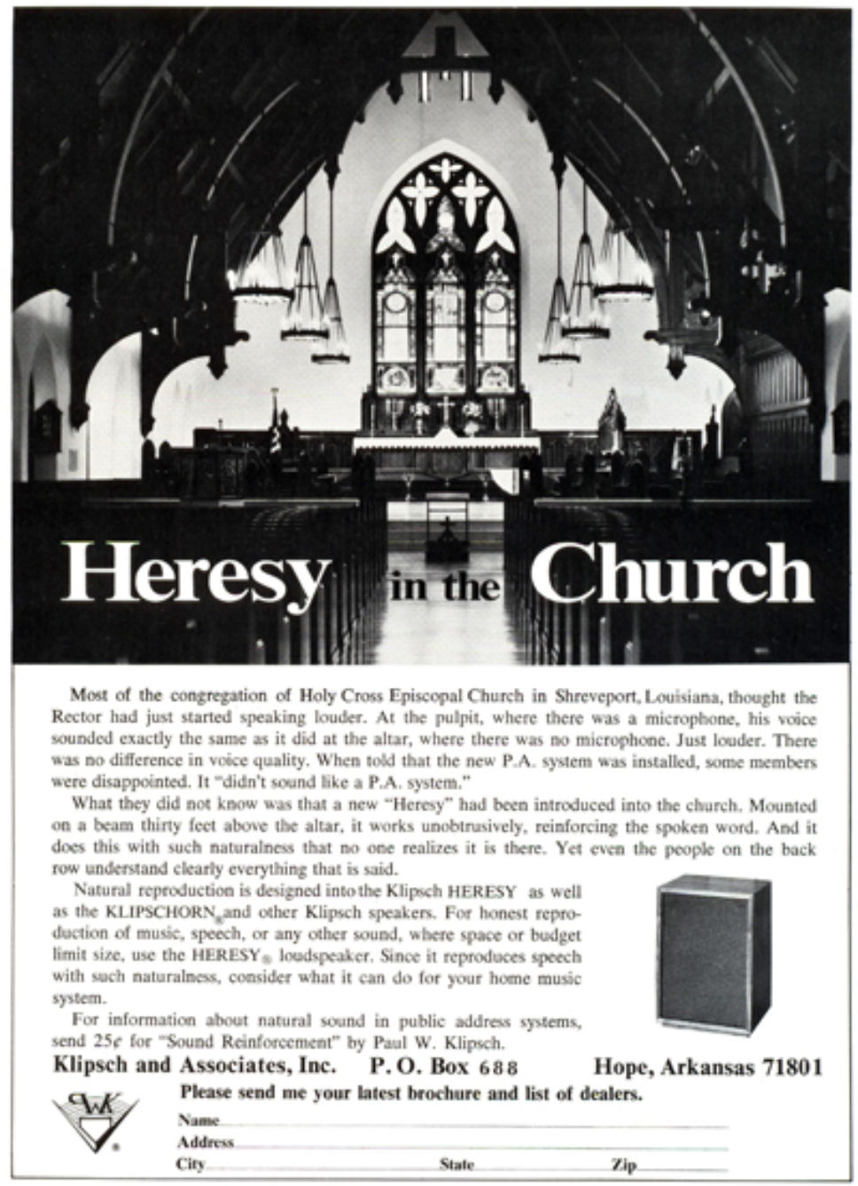 Heresyin Church Ad