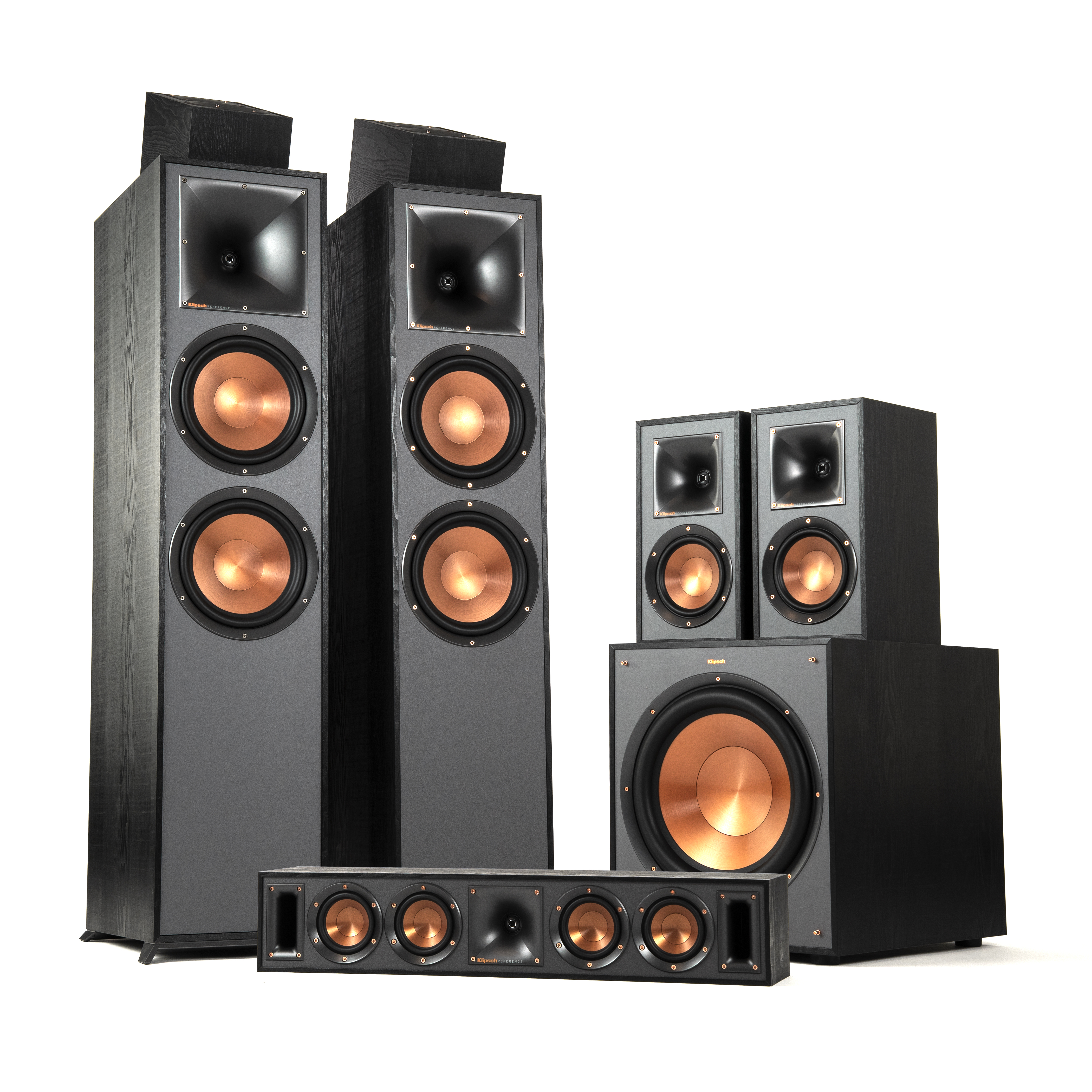 r 820f 5 1 2 dolby atmos home theater system klipsch. Black Bedroom Furniture Sets. Home Design Ideas