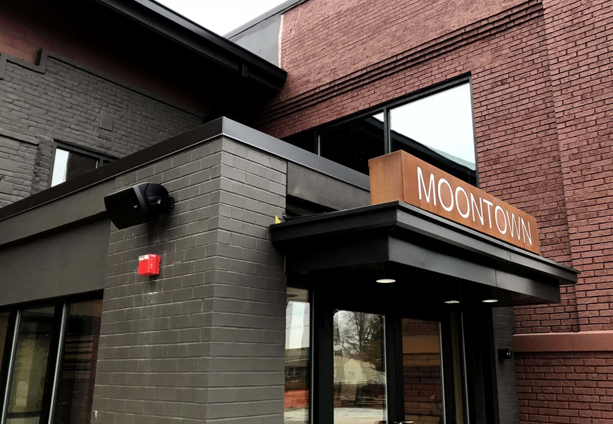 Klipsch outdoor speaker at Moontown Brewing Company in Whitestown, IN