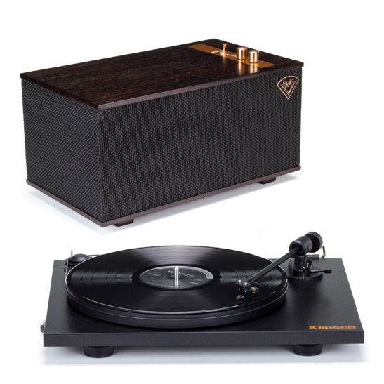 Klipsch Pro-Ject Turntable + The Three - Ebony