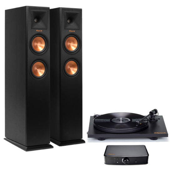 Klipsch Pro-Ject Turntable + RP-250F Pair + Powergate