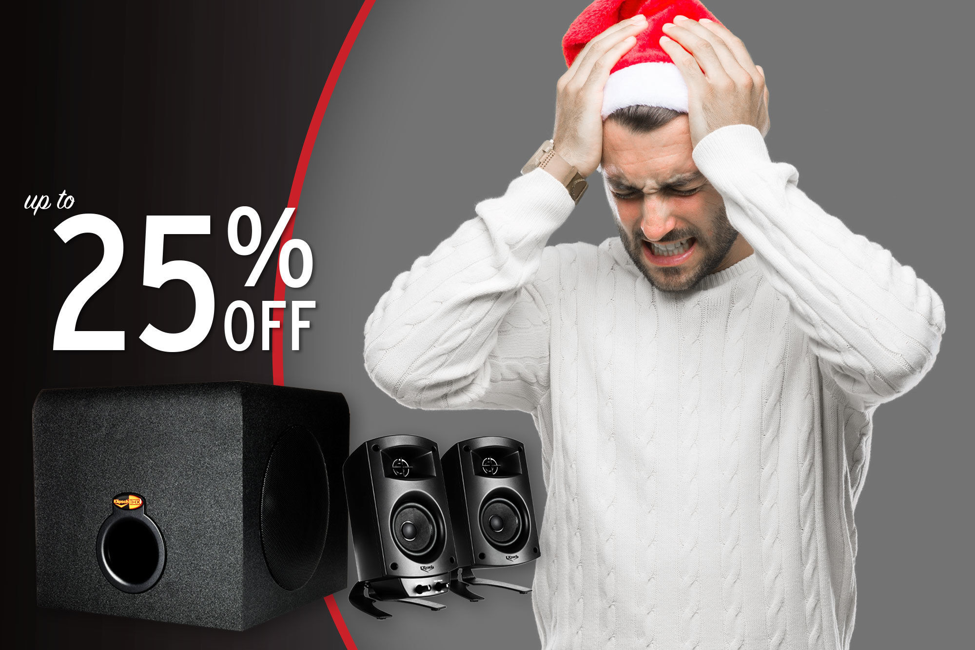 Man upset he didnt get Klipsch speakers for the holidays with ProMedia 2.1