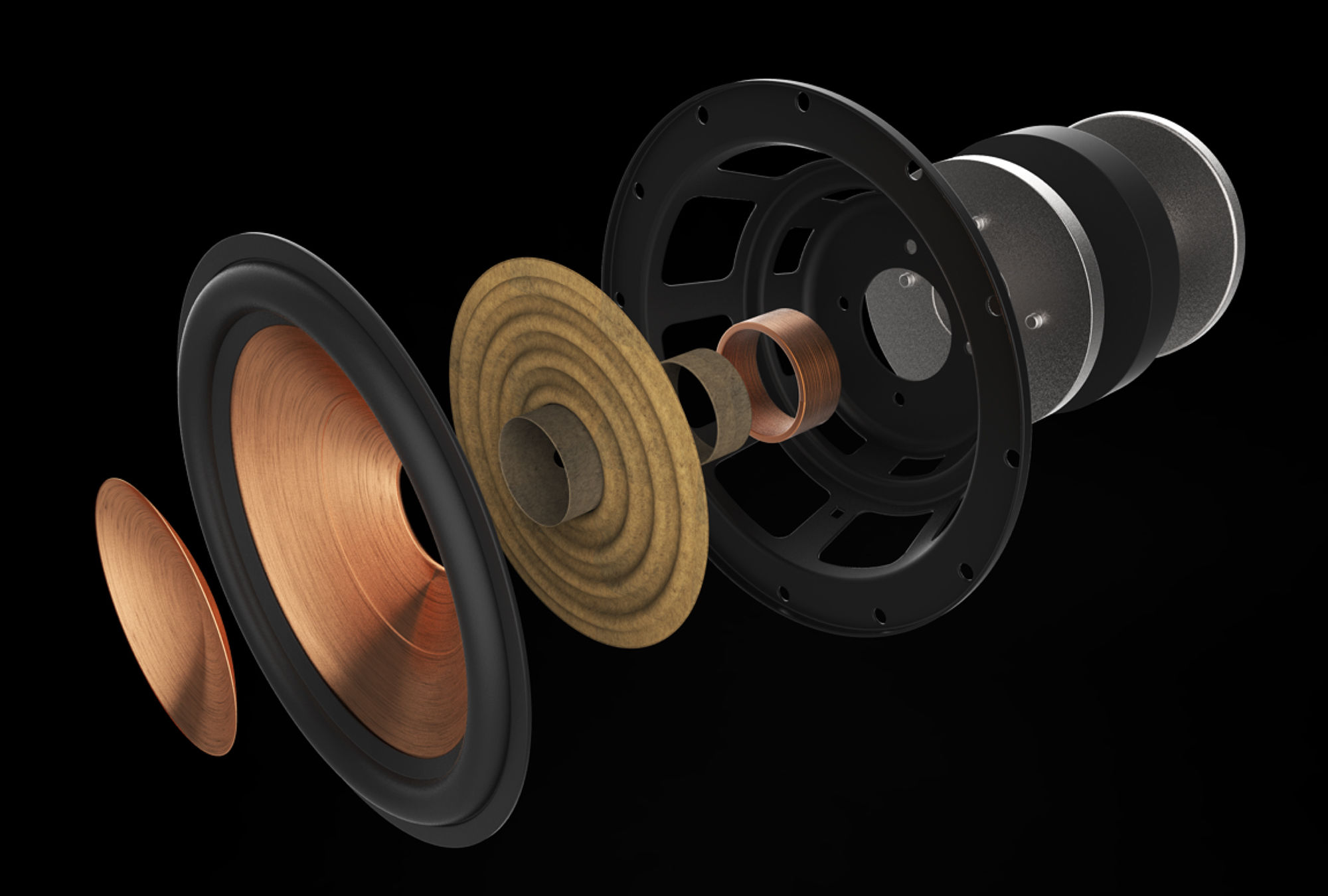 Inside view of Klipsch Reference Premiere Woofer
