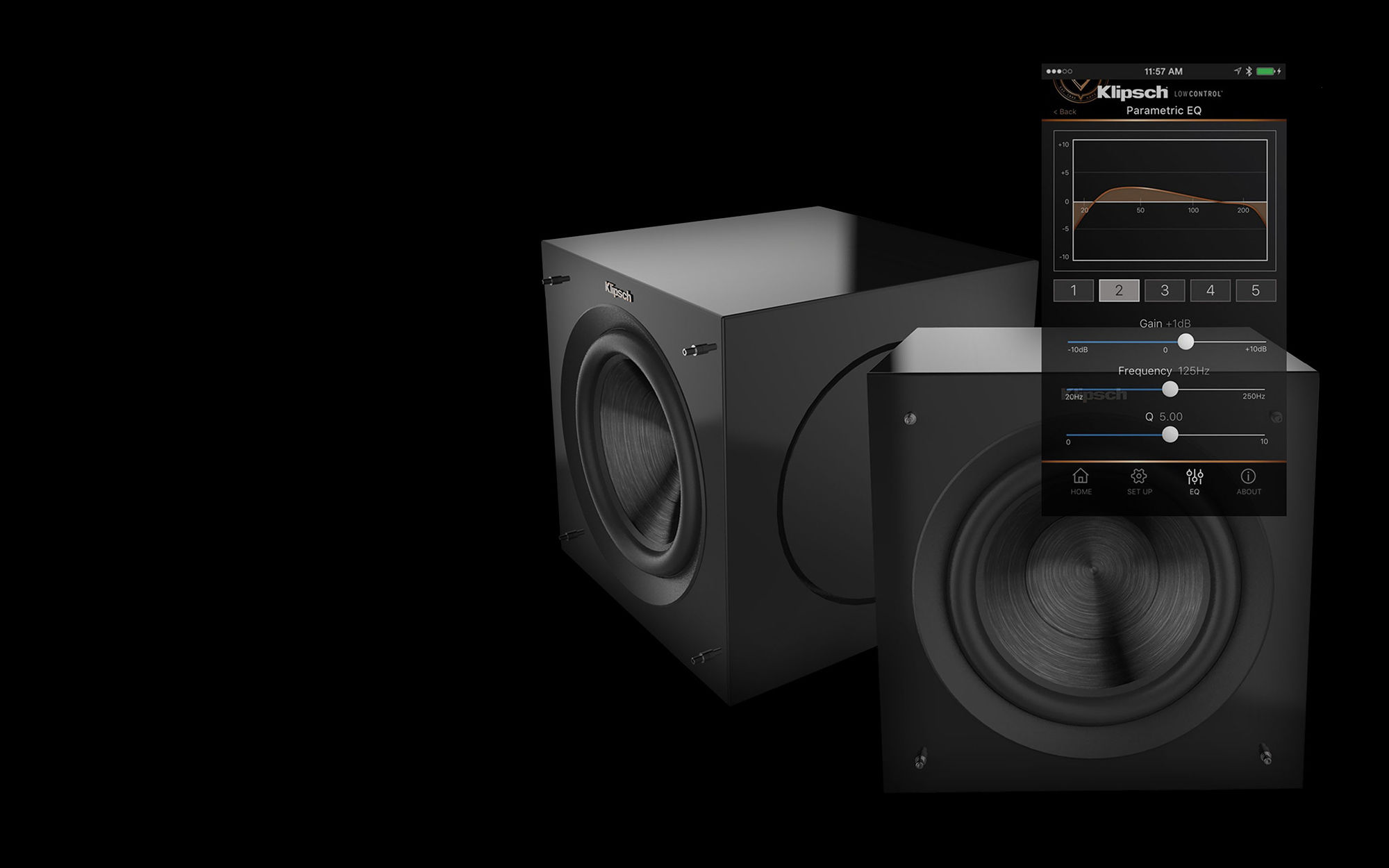 Klipsch subwoofers with control app
