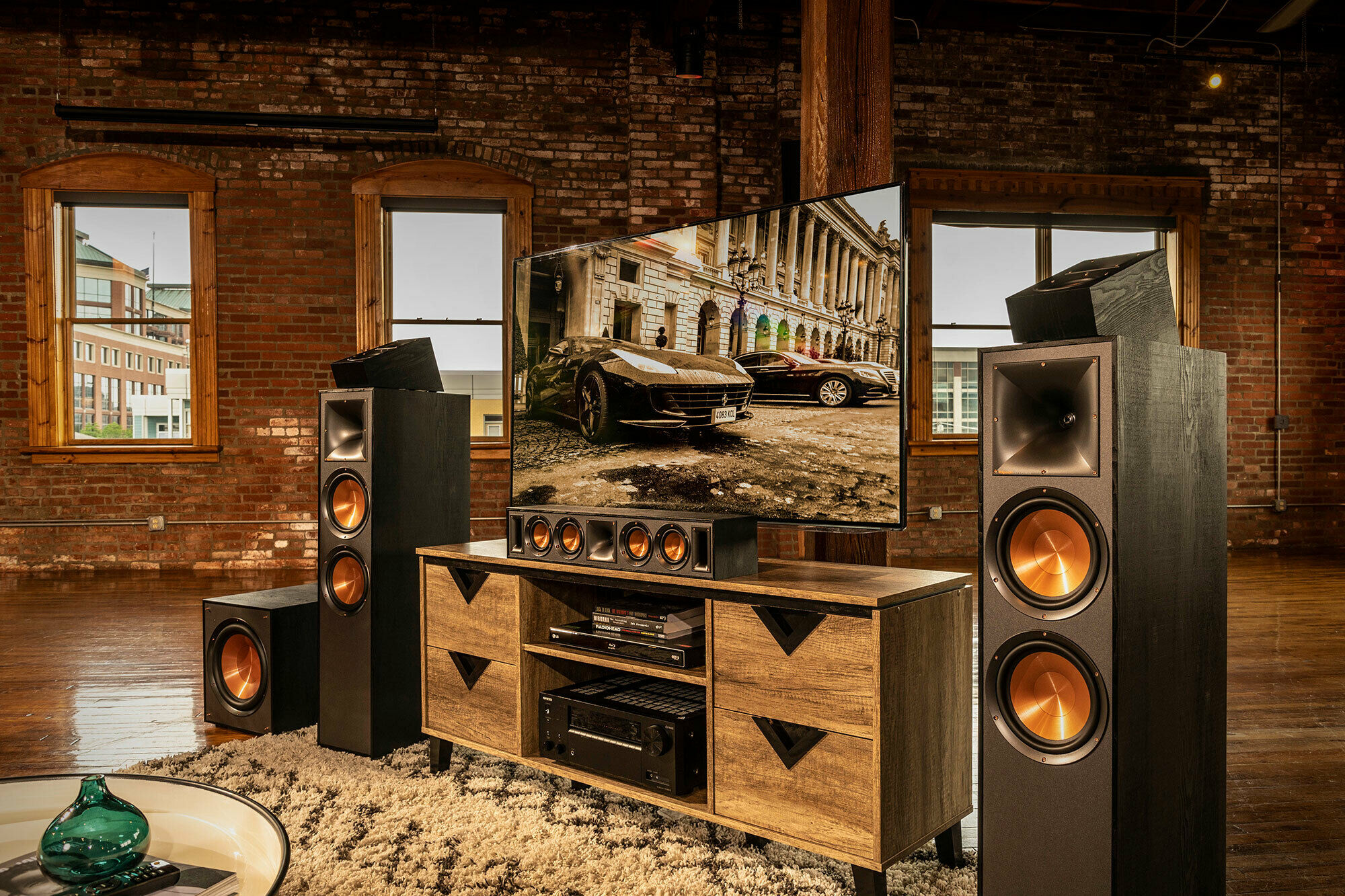 Klipsch Dolby Atmos best home theater in living room