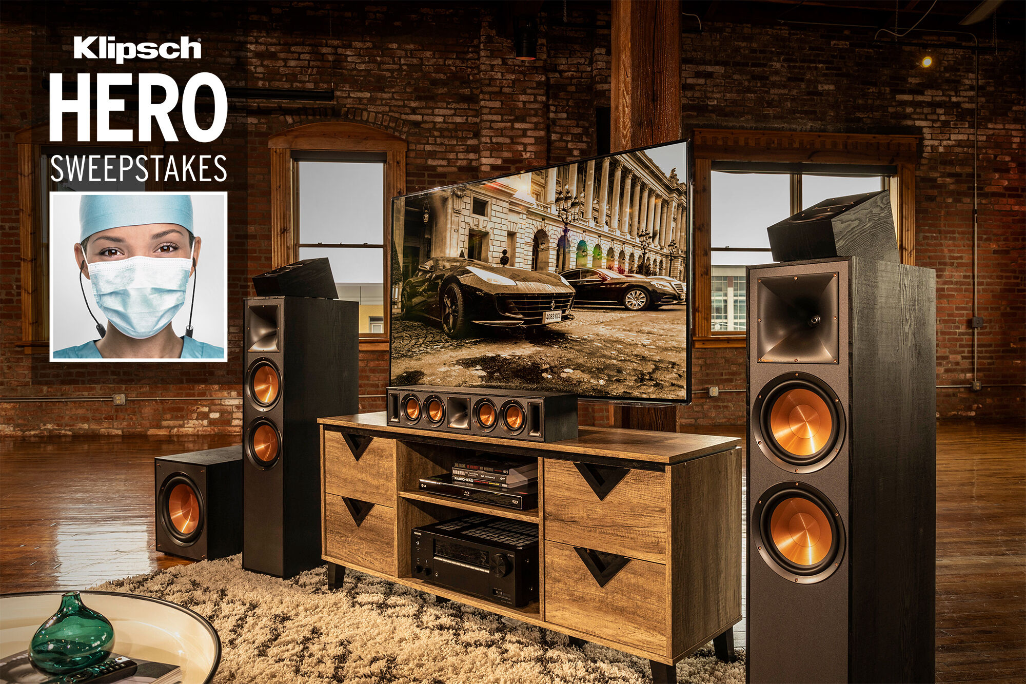 Klipsch Hero Sweepstakes promo box