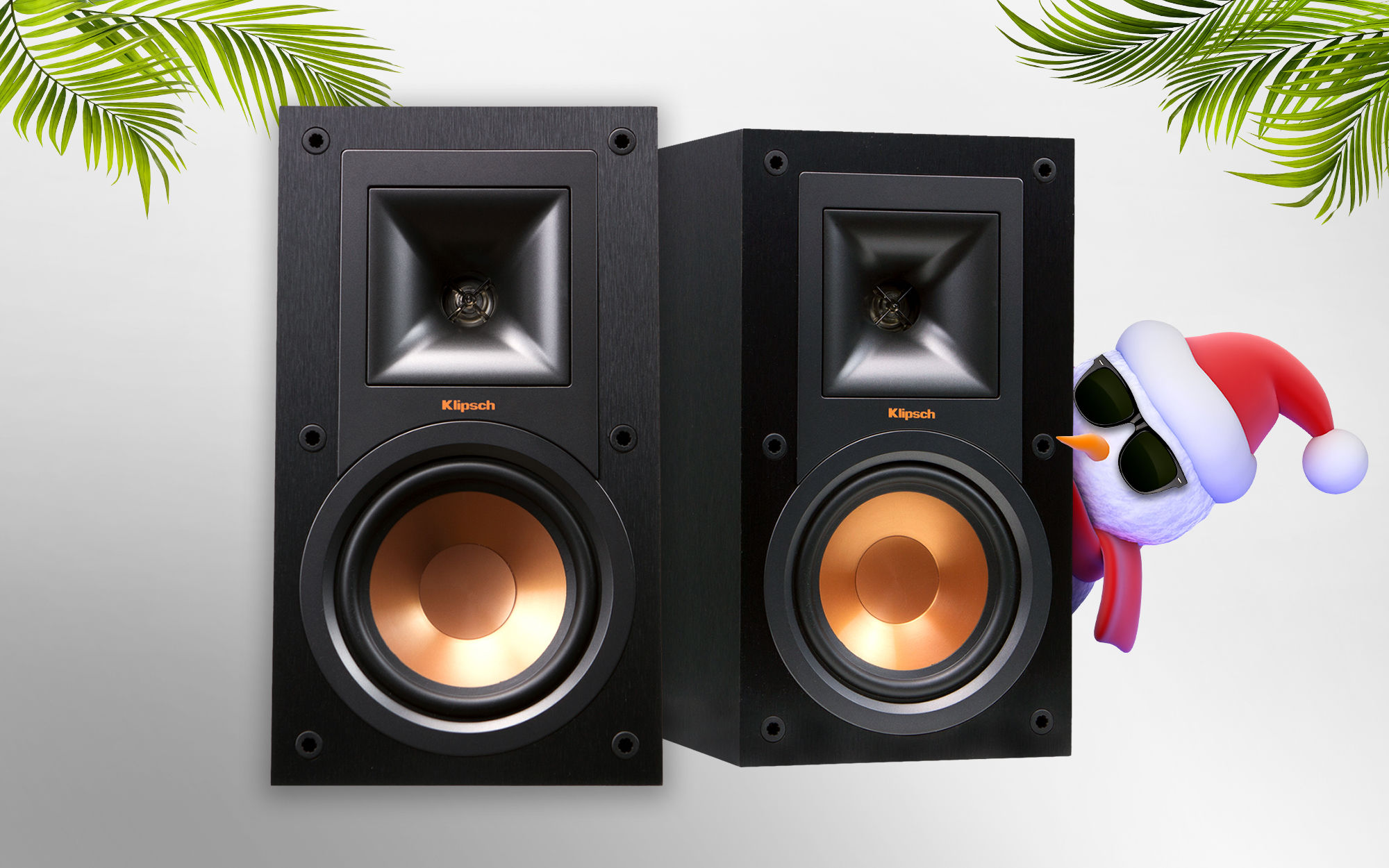 Xmas in July Klipsch bookshelf speakers