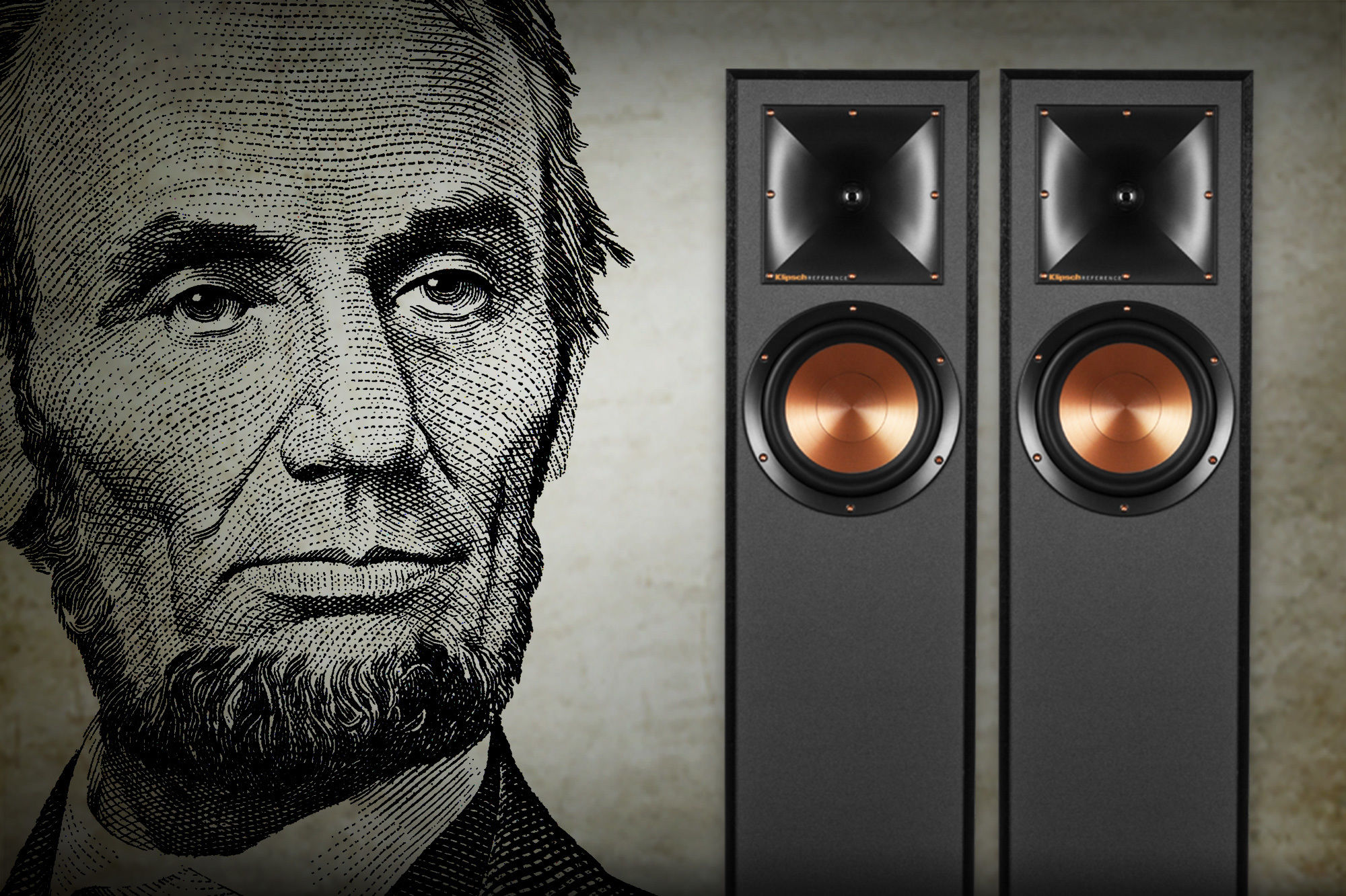 Presidents Day Sale Abe Lincon with Speakers2 2