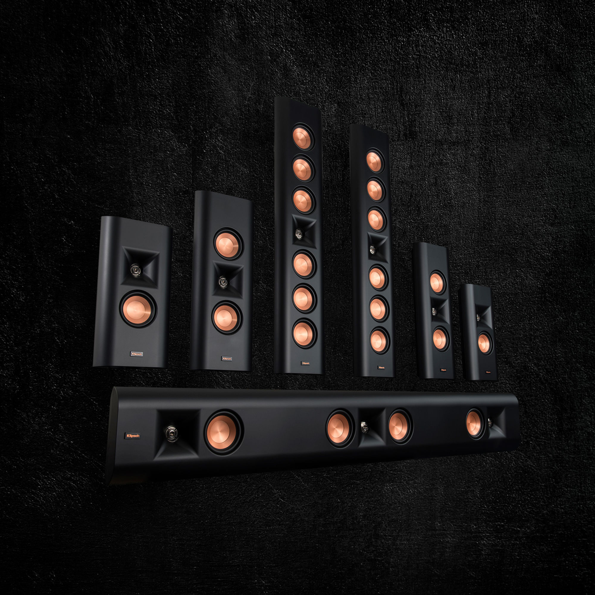 Klipsch Reference Premiere on wall speaker family