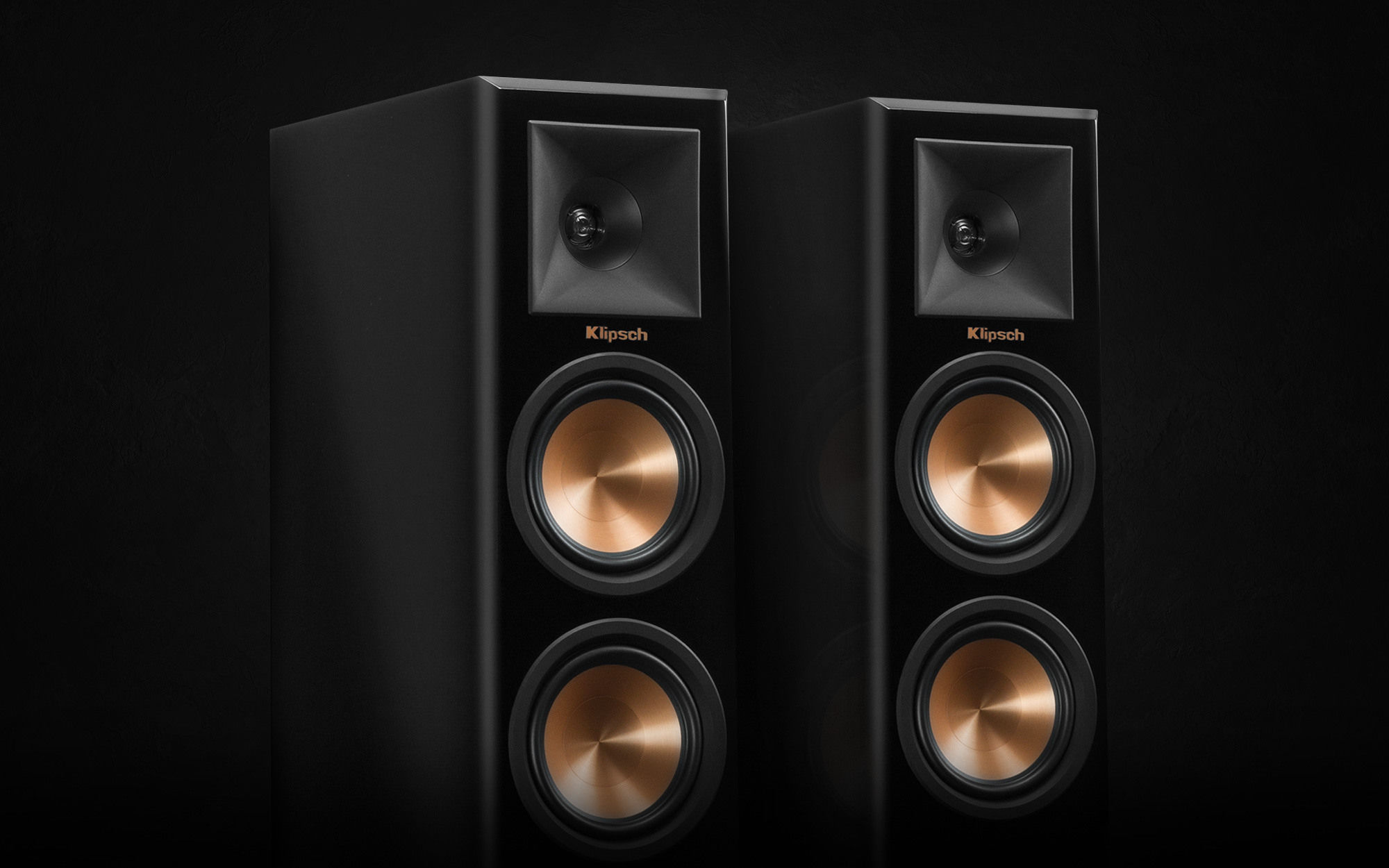 Klipsch Reference Premiere Piano Black floorstanding speakers