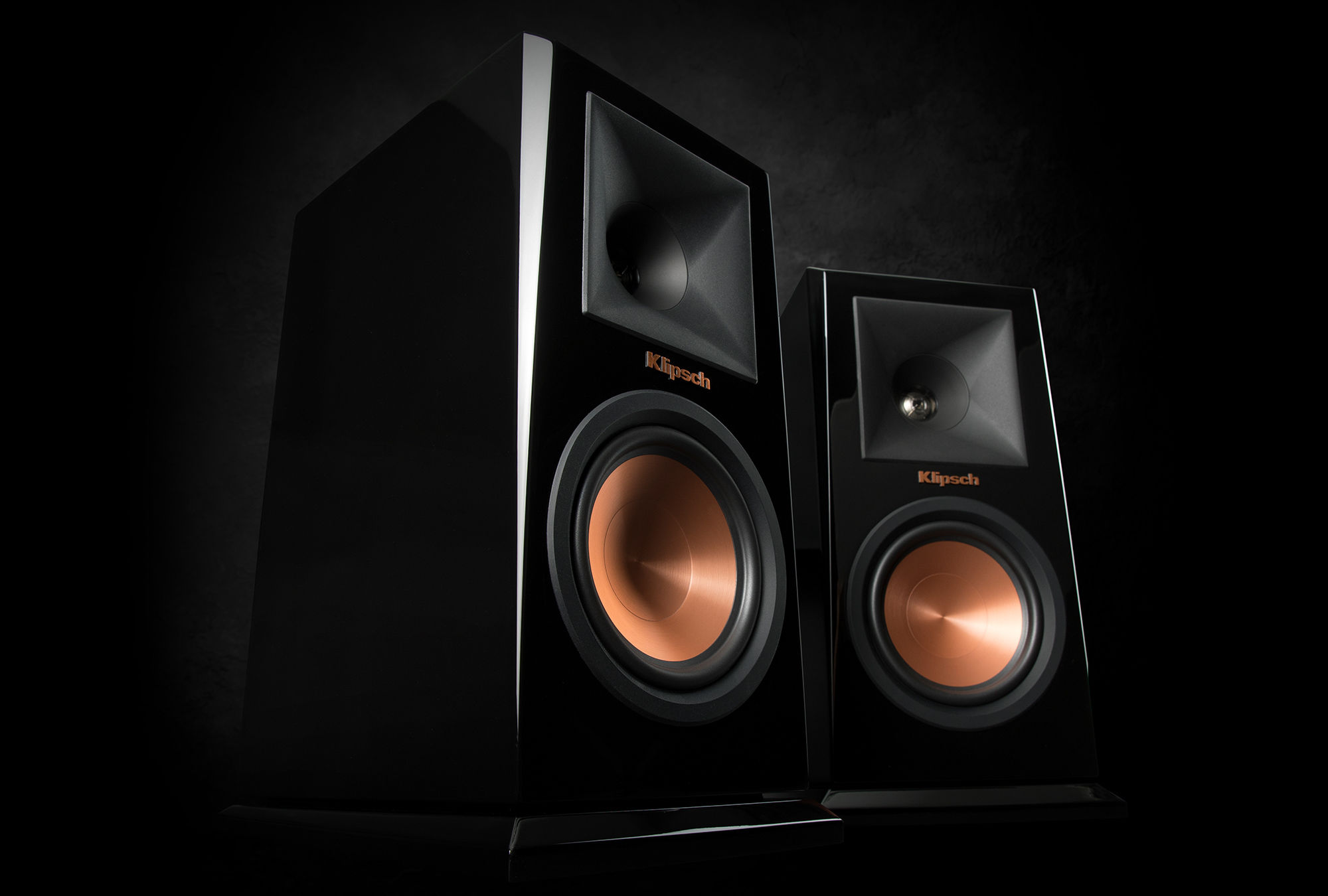 Reference Premiere Piano Black Bookshelf Speakers