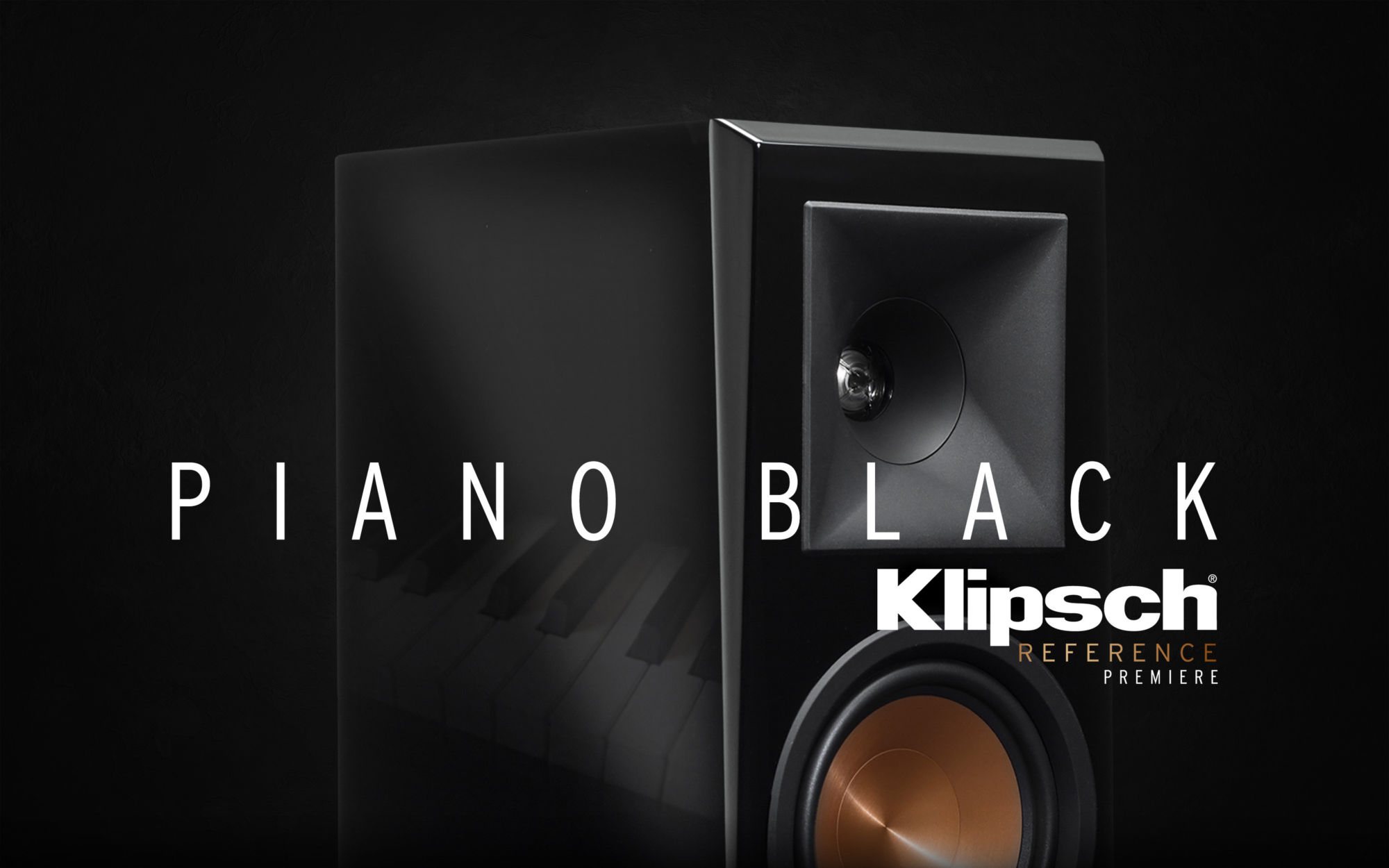 Reference Premiere Piano Black speakers