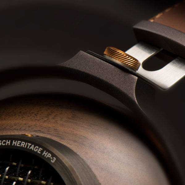 Close up of the Heritage HP-3 Headphones