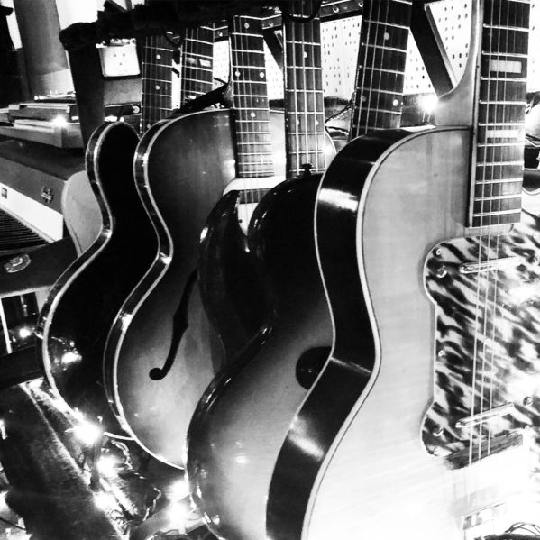 Collection of guitars