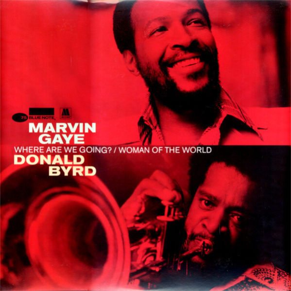 "Marvin Gaye and Donald Byrd ""Where Are We Going?/Woman of the World"" Album Cover"