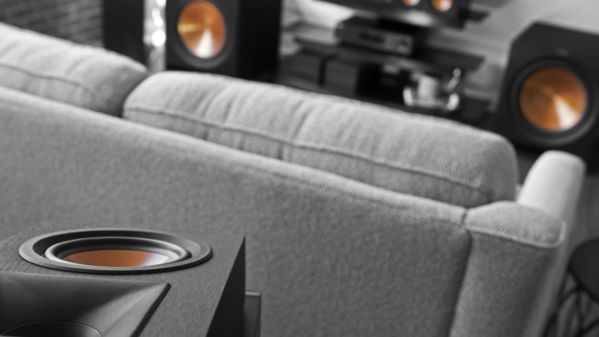 Klipsch reference speakers in a living room