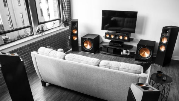 Reference Premiere surround sound system in a living room