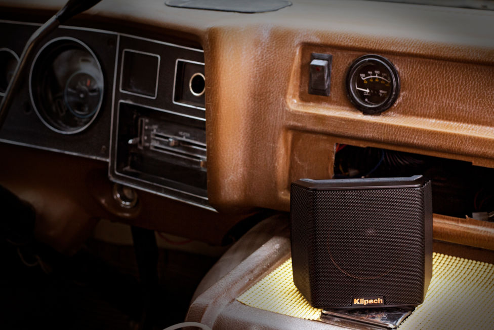 Klipsch Groove in a car