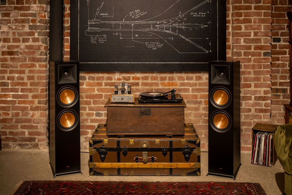 Klipsch Home Audio Floorstanding Speakers in a room