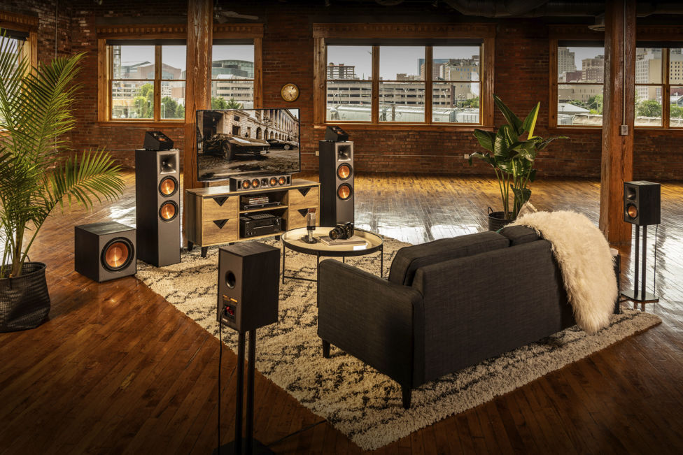 Klipsch Home Theater System in large living room