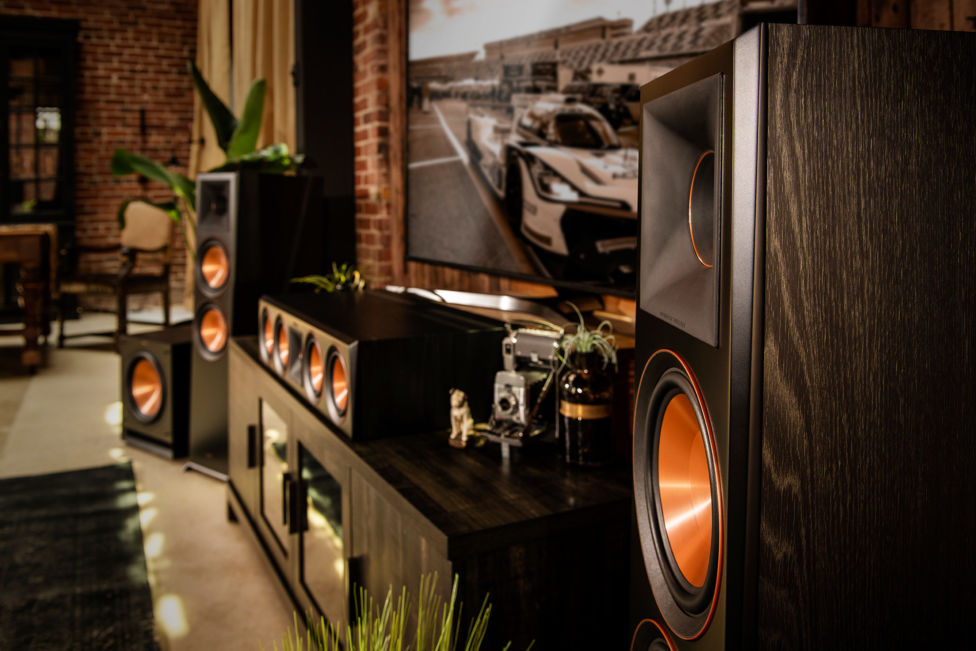Klipsch Reference Premiere home theater in a living room